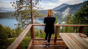 Overlooking Lake Tahoe